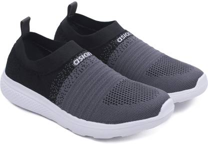 Asian Elasto-02 Grey Black Running Shoes For Women