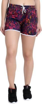 GUTI Floral Print Women Multicolor Night Shorts