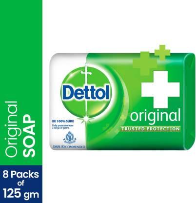 Grab Fast Dettol Bathing Bar Soap (8 x 125 g)