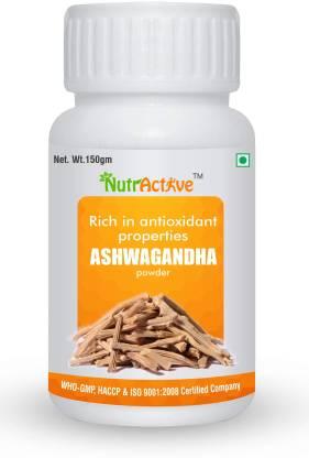 NutrActive Pure Organic Ashwagandha Root Powder - Withania somnifera