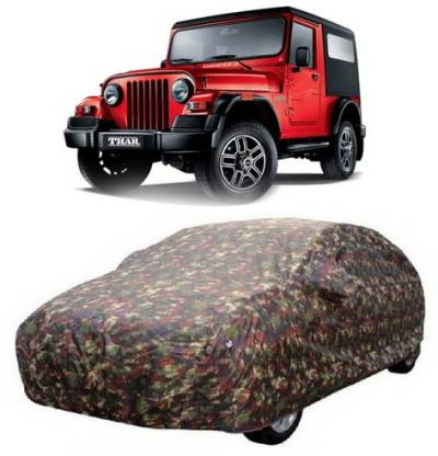 HDSERVICES Car Cover For Mahindra Thar (With Mirror Pockets)