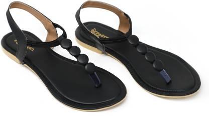 PADVESH Women Black Flats