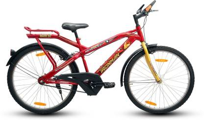 HERCULES IRONMAN26RED 26 T Road Cycle Single Speed, Red