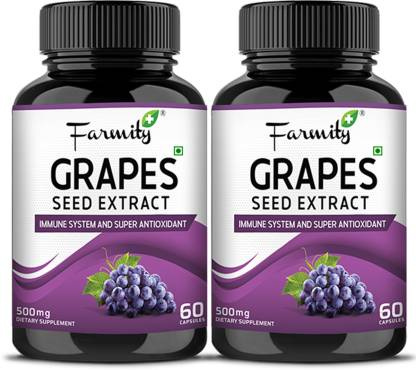 Farmity Grape Seed Extract Capsules Promote Healthy Skin & Digestive Health