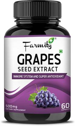 Farmity Grape Seed Extract Dietary Supplement Improves Metabolism & Immune System