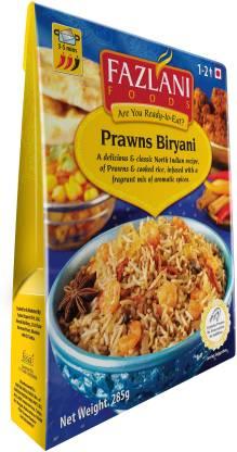 FAZLANI FOODS Ready to Eat Prawns Biryani, (Pack of 1, 285gm) 285 g