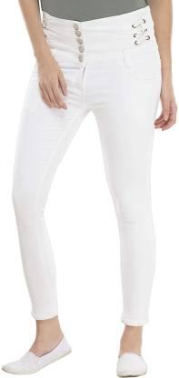 J Brand Womens Maria High Rise Skinny Jeans White