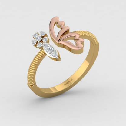 ShipJewel Butter Winged Ring-18KT Gold-6 18kt Diamond Yellow Gold ring