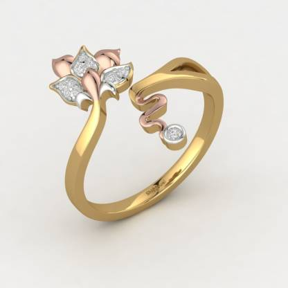ShipJewel World Flora Ring-18KT Gold-12 18kt Diamond Yellow Gold ring