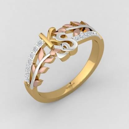 ShipJewel KS letter Ring-14KT Gold-6 14kt Diamond Yellow Gold ring