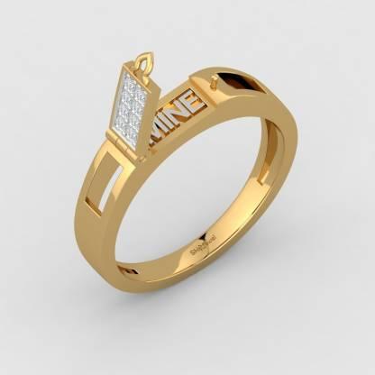 ShipJewel Secret Msg Ring-18KT Gold-20 18kt Diamond Yellow Gold ring