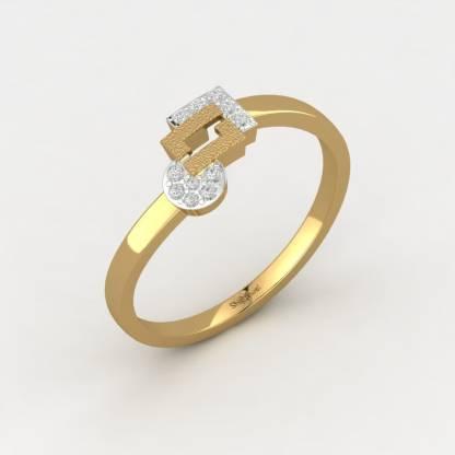 ShipJewel Geo-Fusion Ring-18KT Gold-6 18kt Diamond Yellow Gold ring