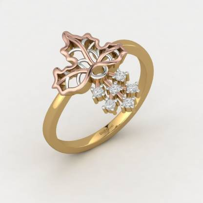 ShipJewel Fall Mapel Ring-18KT Gold-6 18kt Diamond Yellow Gold ring