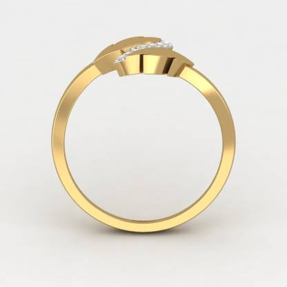 ShipJewel Parallel Weave Ring-18KT Gold-6 18kt Diamond Yellow Gold ring