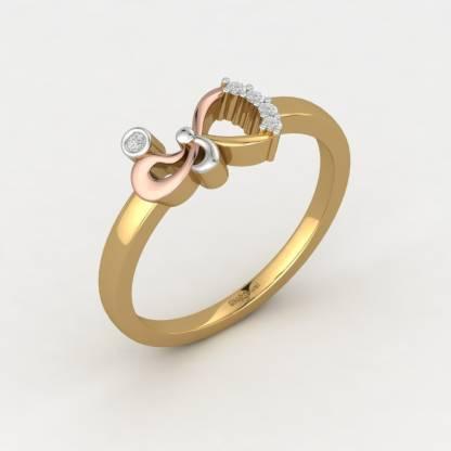 ShipJewel Bestie since Birth Ring-18KT Gold-6 18kt Diamond Yellow Gold ring