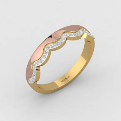 ShipJewel Curtain Wave Ring-14KT Gold-8 14kt Diamond Yellow Gold ring