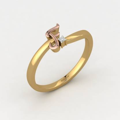 ShipJewel Fantabulous F Ring-18KT Gold-6 18kt Diamond Yellow Gold ring