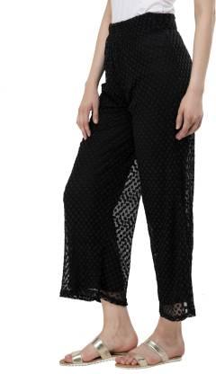 capy Regular Fit Women Black Trousers