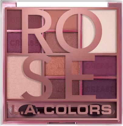 L.A. COLORS Color Block 10 Color Eyeshadow Palette - Rose 16 g