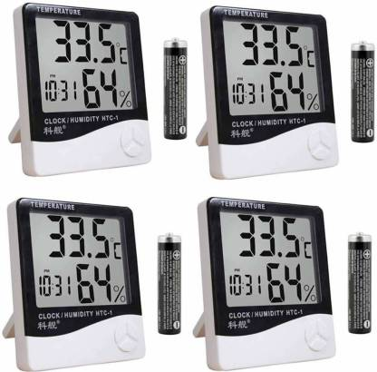Trendyby HTC-04 Digital HTC Clock Pack of -4 with High Accuracy LCD Thermometer