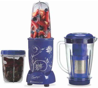 WONDERCHEF Nutri-blend With Juicer attachment (Blue) 400 Juicer Mixer Grinder (3 Jars, Blue)