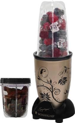 WONDERCHEF Nutri Blend Nutri-Blend 400 W Juicer Mixer Grinder (2 Jars, Champagne)