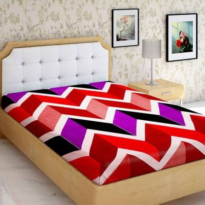 IWS 144 TC Microfiber Single Geometric Bedsheet