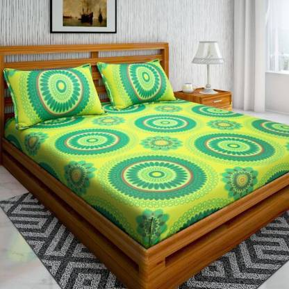 Bombay Linen 104 TC Cotton Double Printed Bedsheet