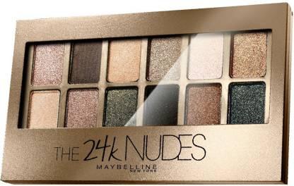 MAYBELLINE NEW YORK Eye Shadow Palette , The 24K Nudes Palette 9 g