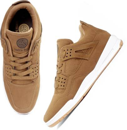 Bacca Bucci Men's Ultraforce Mid-top Athletic-Inspired Retro Fashion Casual/outdoor Sneakers for Men-Tan Walking Shoes For Men