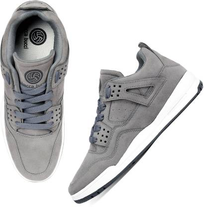 Bacca Bucci Men's Ultraforce Mid-top Athletic-Inspired Retro Fashion Casual/outdoor Sneakers for Men-Grey Walking Shoes For Men