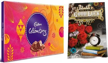 Cadbury Celebrations Gift Pack Chocolates With Beautiful' 'Good Luck' greeting card Combo