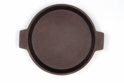 PRV Tawa Cast Iron Dosa/Roti Tawa Cast Iron Skillet Concave Pan 24 cm diameter