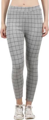 Just Live Fashion Checkered Women White Tights