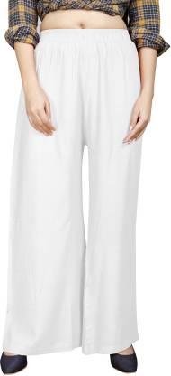 Hinayat Fashion Regular Fit Women White Trousers