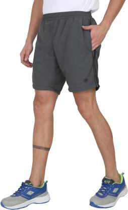 Forest Club Solid Men Grey Sports Shorts
