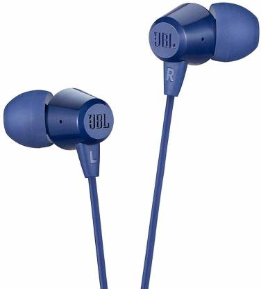 JBL C50HI Wired Headset (Blue, Wired in the ear)