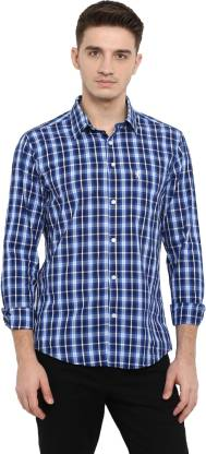 Red Tape Men Checkered Casual Dark Blue, White, Blue Shirt