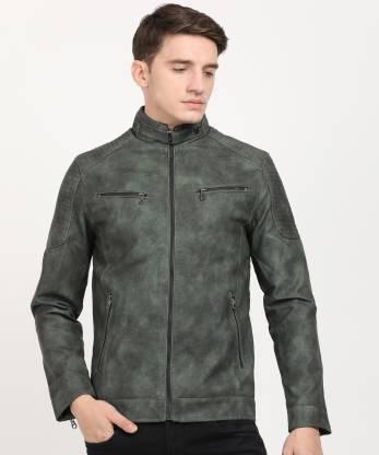 The Indian Garage Co Full Sleeve Finish or Effect Men Jacket