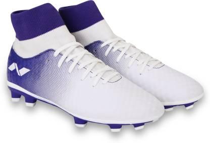 Football Shoes For Men(White, Purple)