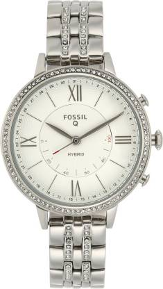 Fossil Q Jacqueline Smartwatch  (Silver Strap, Free Size)