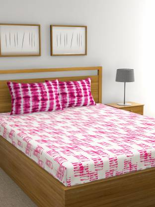Raymond Home 144 TC Cotton Double Abstract Bedsheet