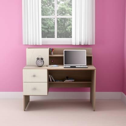 Godrej Interio Zen Engineered Wood Study Table Free Standing, Finish Color   Sonoma Oak  Godrej Interio Office Study Table