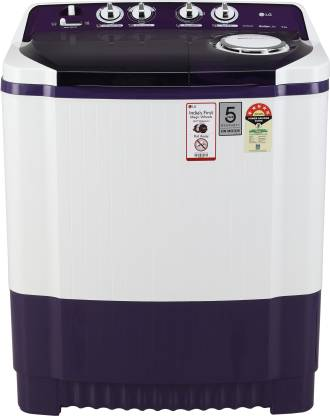 LG 8 kg Semi Automatic Top Load Purple, White
