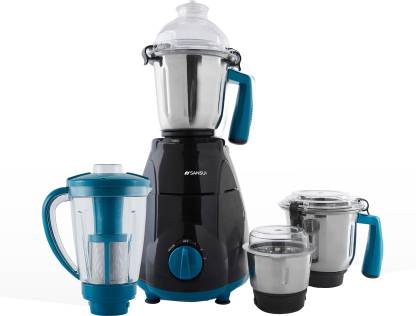 Sansui ProHome SMG03 750 W Juicer Mixer Grinder (4 Jars, Blue, Black)