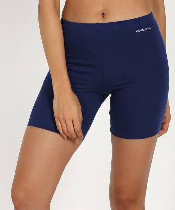 Fruit of the Loom Solid Women Blue Cycling Shorts