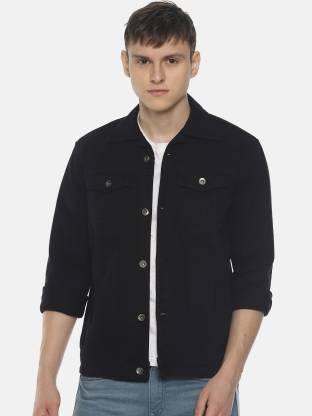 Ojass Full Sleeve Solid Men Denim Jacket