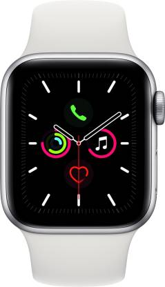 APPLE Watch Series 5 GPS 40 mm Silver Aluminium Case with White Sport Band