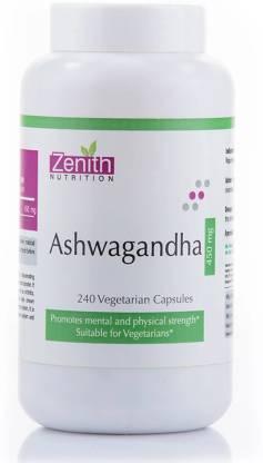 Zenith Nutrition Ashwagandha - 450mg-240 Nos