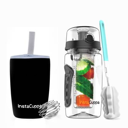 InstaCuppa Fruit Infuser Water Bottle with Free Weight Loss 700 ml Bottle